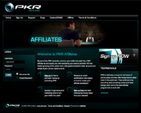 Screenshot della Pagina Affiliati PKR